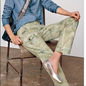 Anthropologie Tie Dyer Cargo Trousers The Wanderer